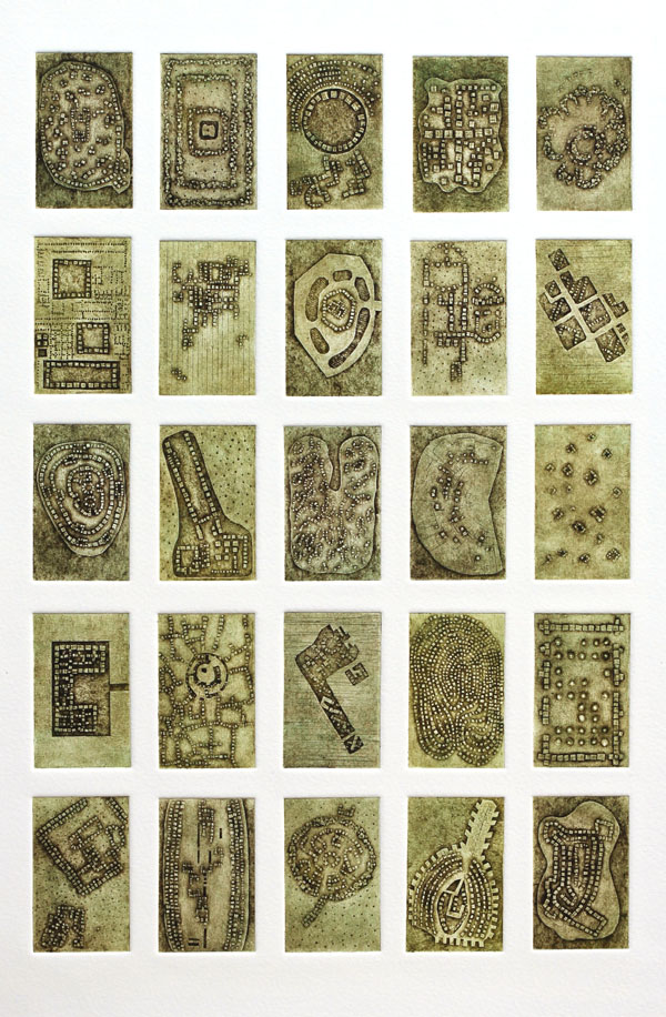 Ancient Alignments no.13 collagraph, 2016