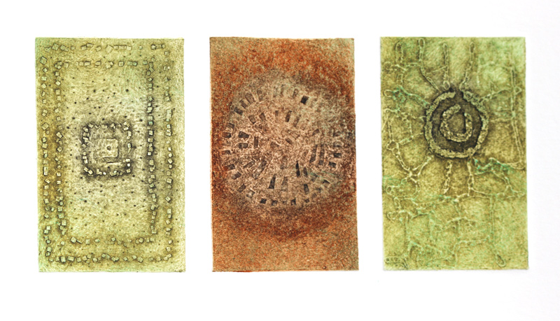 Ancient Alignments, collagraph