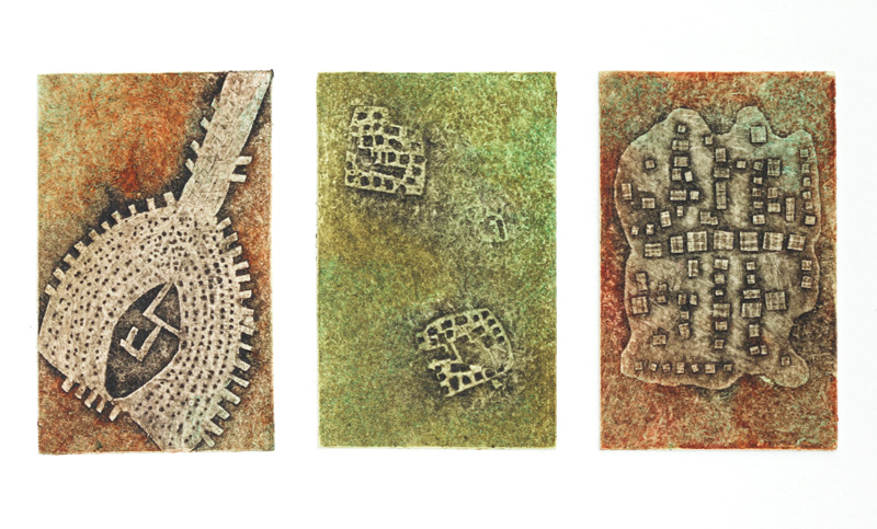 Ancient Alignments no.2, collagraph