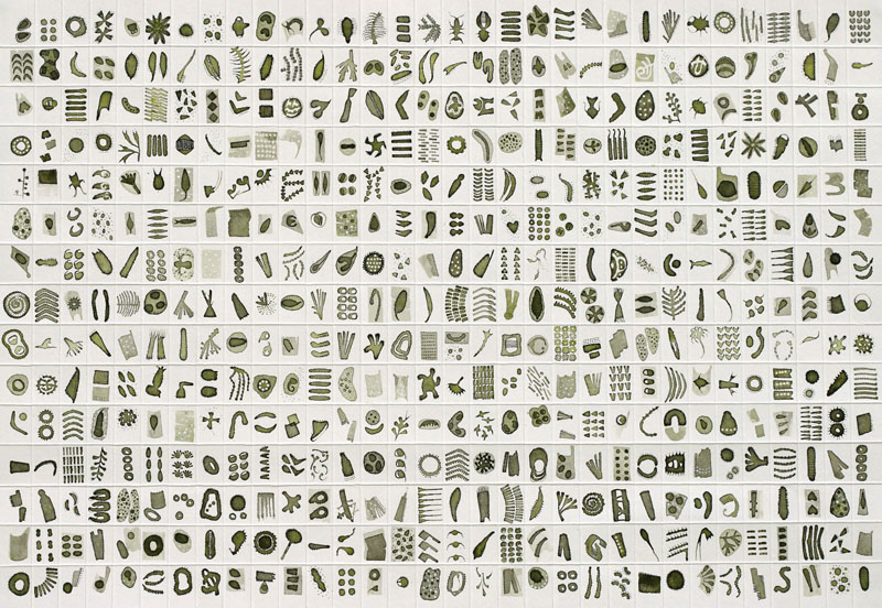 Micrarium no.9, ink on paper
